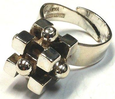 Pentti Sarpaneva, vintage modernist silver ring.