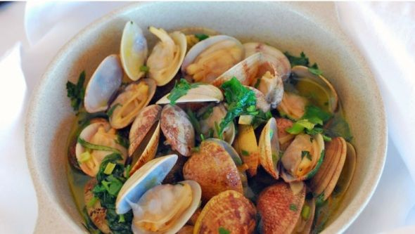Bulhão Pato clams recipe is one of the most appreciated Portuguese seafood dishes. it is usually served as an appetiser or at the end of a lovely beach day.  (...)