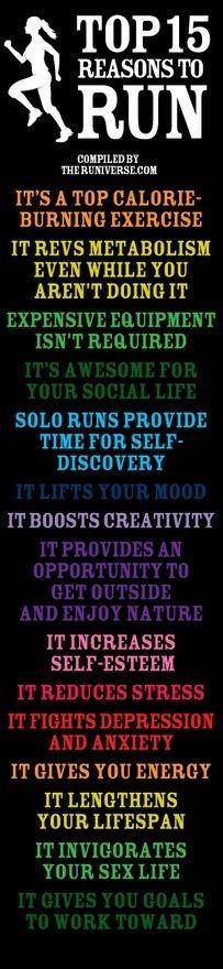 running running running..!: Start Running, Tops 15, Inspiration, Why I Running, 15 Reasons, Running Body, Motivation To Start Over, Reasons To Running, Runners Body