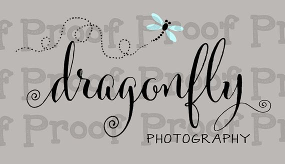 Dragonfly Logo Photography Watermark Logo by OnTheFlyDesignss