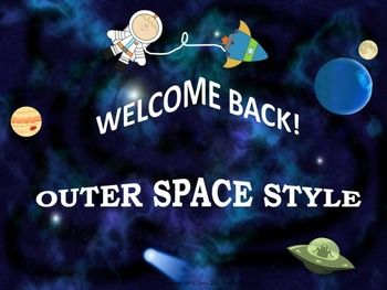 $4 Pre-K- grade 5  This 18-page Welcome Back package includes resources in an Outer Space theme to get your students off to a great start!
