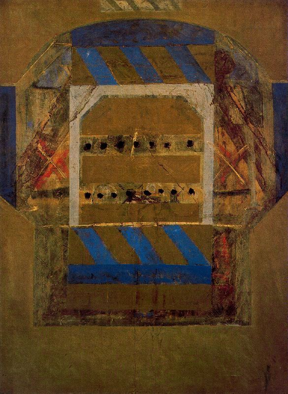 Vicente Rojo, 'La gran marca', 1966, óleo sobre lienzo, 150 x 110 cm. México / arte, pintura, mexican art, latin art