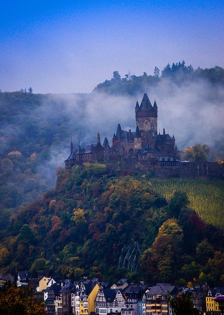 Cochem Castle just before dawn - Germany