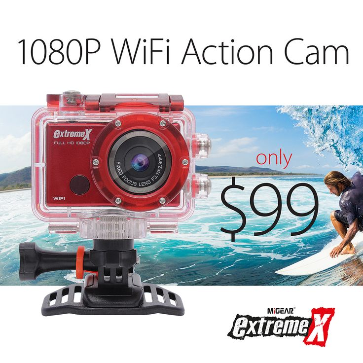 MiGear ExtremeX 1080P Wifi Action Camera