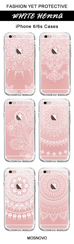 Mosnovo White Henna iPhone 6/6s Case Collection ☞ http://amzn.to/2fKaq2N  #Mosnovo