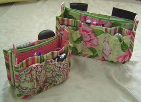 Porta-Pockets Purse Insert Pattern-handbag Patterns-StudioKat Designs  http://www.studiokatdesigns.com/portapockets.htm