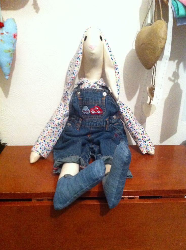 Hand made large fabric rabbit £35