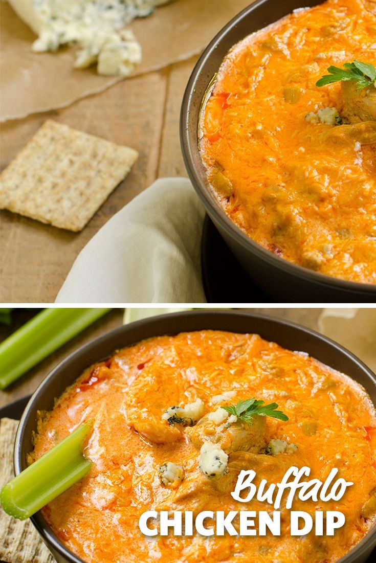 Buffalo Chicken Dip: Like your favorite player, this creamy and slightly spicy dip is sure to deliver a great performance every game. Packed with chicken and spice, this dip is great with Tortilla chips, Fritos, crackers or celery. #FoodLion