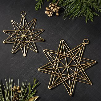 Gallet Layered Star Ornaments