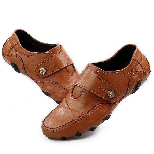 Men Soft Leather Breathable Oxfords Octopus Pattern Rubber Sole Driving Shoes - US$46.17