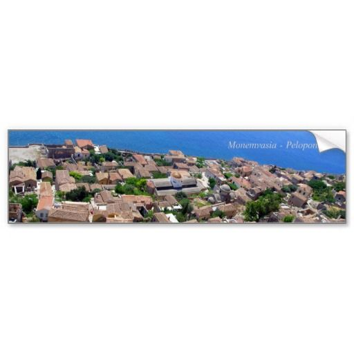 Monemvasia – Peloponnese Bumper Stickers