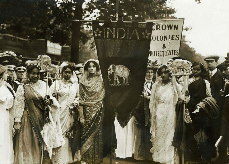 """""""London 1911: Exiled Indian princess Sophia Duleep Singh, along with other Indian women, fighting for voting rights during the Suffragette movement"""" by kash_if in india"""
