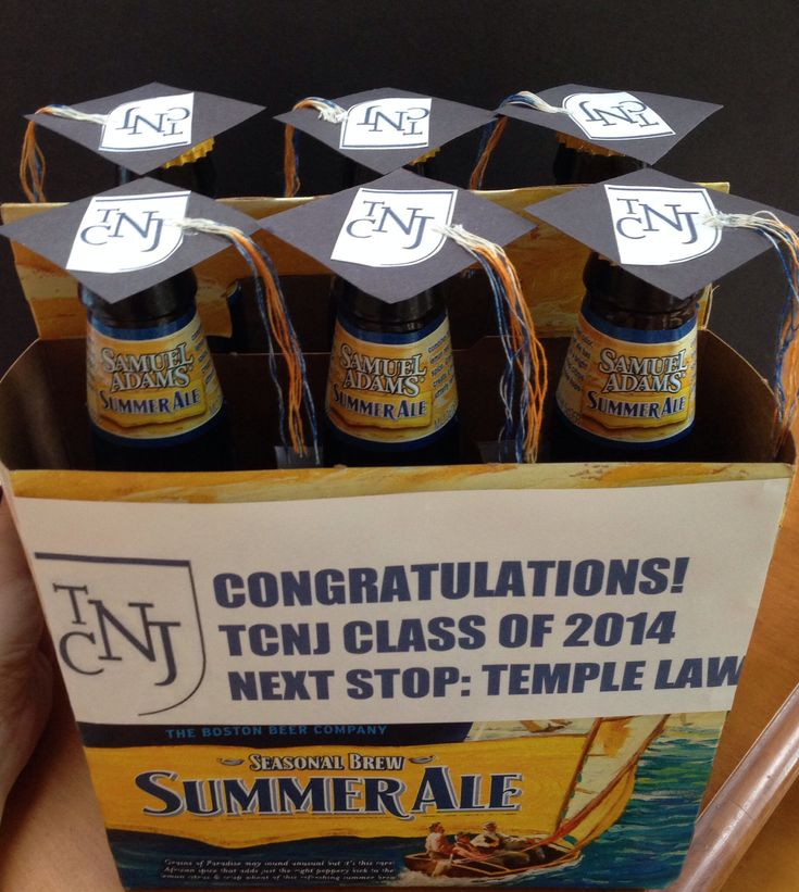college graduation gift for a boyfriend! decorated six pack #classof2014 #boyfriend #beer #graduation #tcnj #samadams