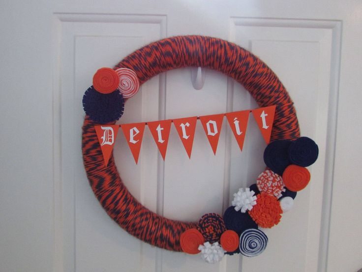A personal favorite from my Etsy shop https://www.etsy.com/listing/503282670/detroit-tigers-wreath-detroit-tigers