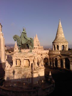 One view from Fishermen's Bastion in Budapest