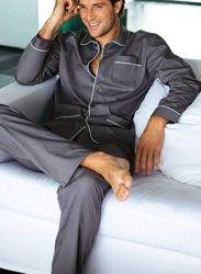 Pijama largo hombre 100% algodón