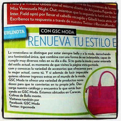 GSC Moda en la @Revistaronda....Siempre con lo mejor en accesorios de mujer