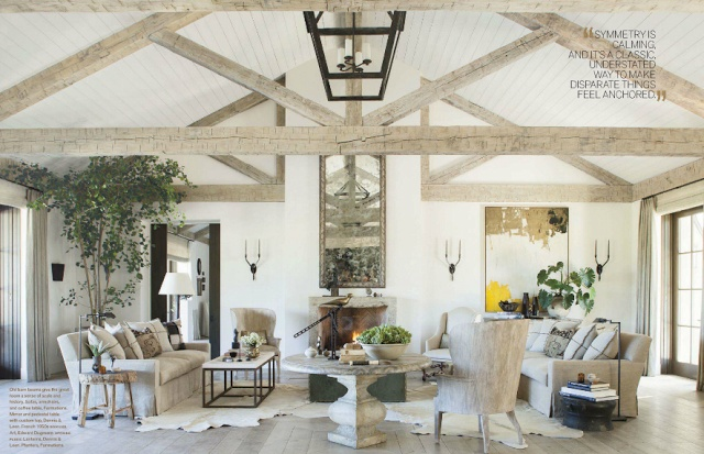 Exposed beams with plank ceiling our future nest for Veranda living rooms