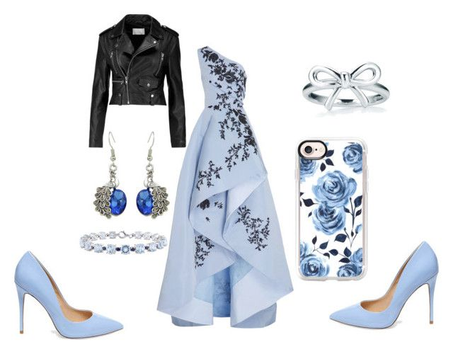 """""""Emmys"""" by kawaii-dragon on Polyvore featuring Monique Lhuillier, W118 by Walter Baker, Steve Madden and Casetify"""