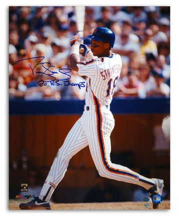 Darryl Strawberry New York Mets Autographed 16 x 20 White Jersey Photograph Inscribed with 86 WS Champs… #Sport #Football #Rugby #IceHockey
