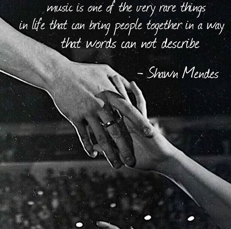 """Music is one of the very rare things in life that can bring people together in a way that words can…"""