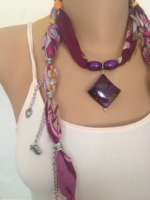 Burgundy Jewelry Scarf  Bohemian Jewelry Scarf   Large by MaxiJoy, $12.00