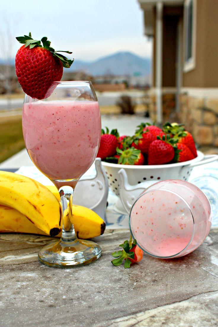 Strawberry Banana Yogurt Smoothie The Greek yogurt and sweet fruit make it a wonderful breakfast, dessert, or a refreshing mid-afternoon snack