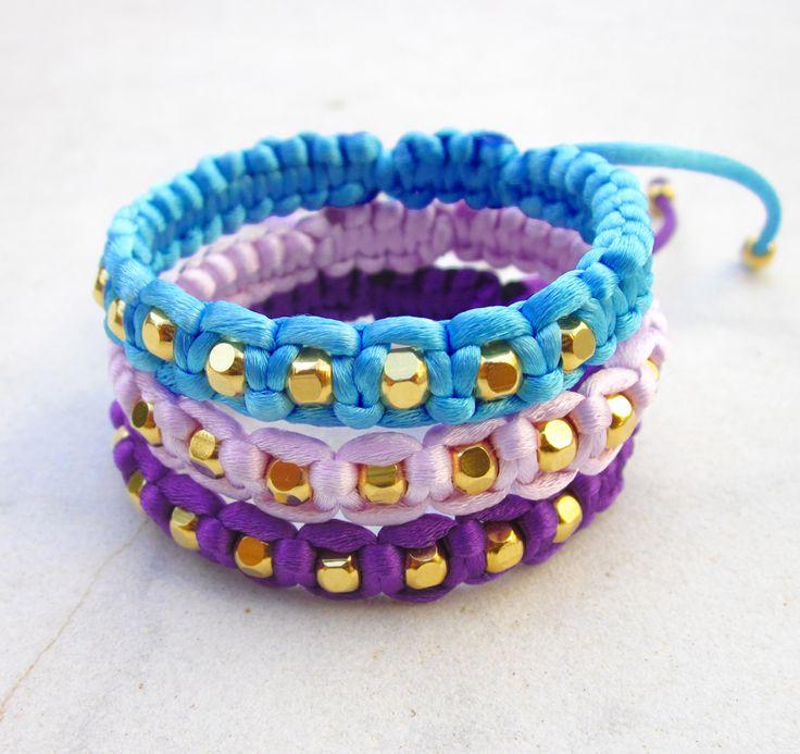 Bracelet gold beads friendship bracelet