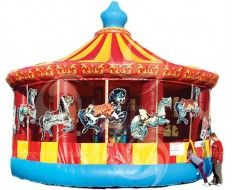 Carousel Bounce House Carnival Circus Theme Pinterest