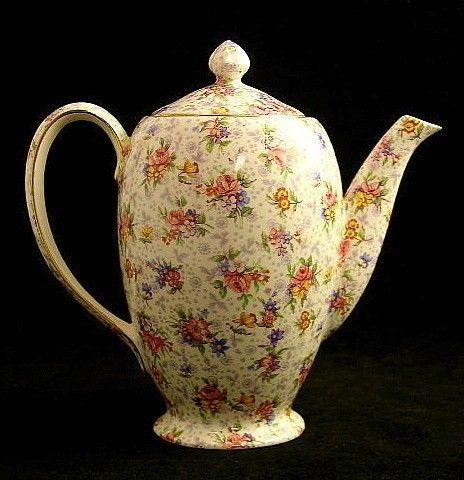 Royal Winton ELEANOR Albans Coffee Pot with Lid VINTAGE #ROYALWINTON