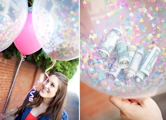 Money balloons! Easy birthday present! Looks super cute and is better than just given money or a gift card - Tween/Teen Party Ideas