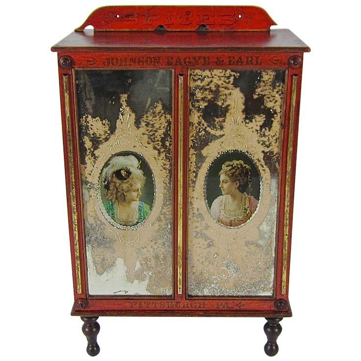 Marvelous Spice Cabinet, C.1880u0027s 1890:s
