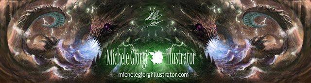 Michele Giorgi Illustrator                     : NEW Layout : Website Header :)  and CYBER MONDAY