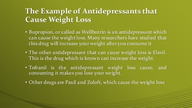 does paxil help you lose weight