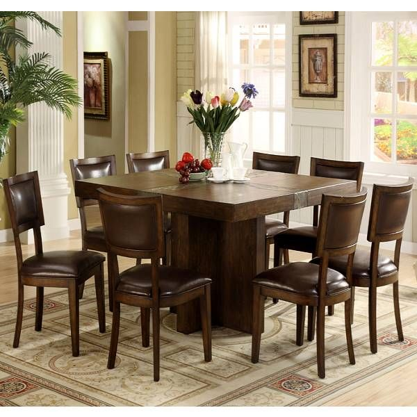 Riverside Furniture Belize 9 Piece Square Dining Table Set In Distressed  Pine   Transitional   Dining Tables   Cymax