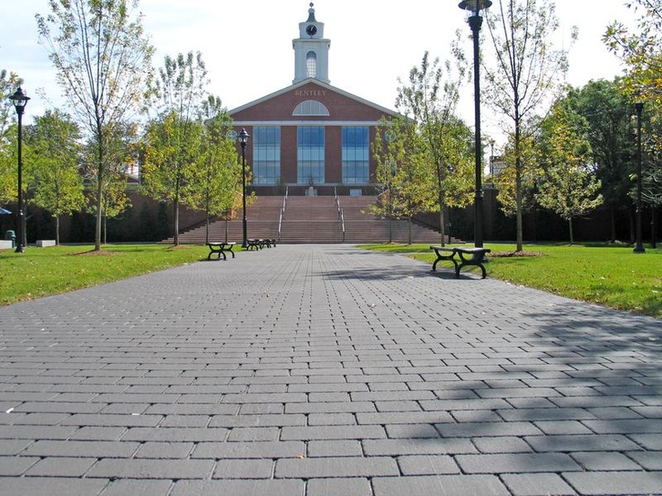 StreetPrint Pedestrian Plaza, MA (After)||Location: Bentley College, MA (After textured asphalt)       Equipment used: SR-60 /    StreetPrint Template Pattern: Offset Brick