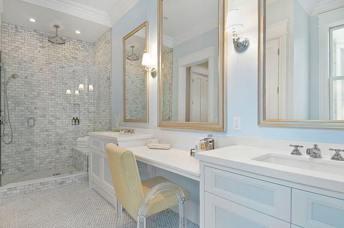 gorgeBathroom Design, Ideas, Masterbath, Bathroom Vanities, Tile Shower, Cardea Buildings, Master Bathrooms, Shower Tile, Traditional Bathroom