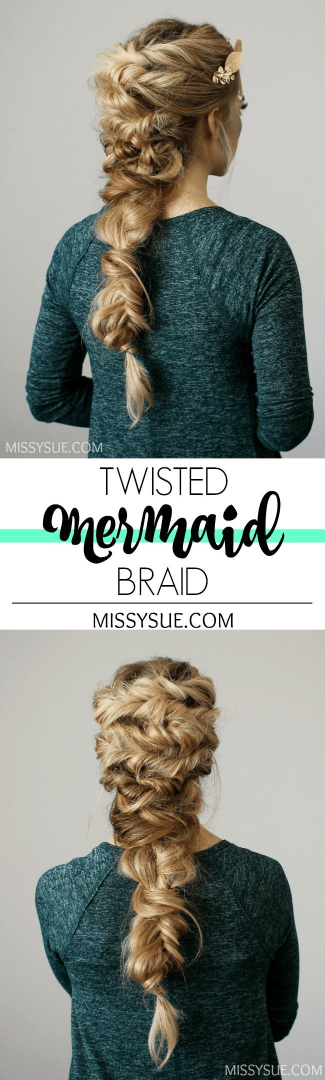 How to create a Twisted Mermaid Braid. perfect for photo shots in your Fin Fun Mermaid tail. You can get your real swim-able mermaid tail at FinFunMermaid.com