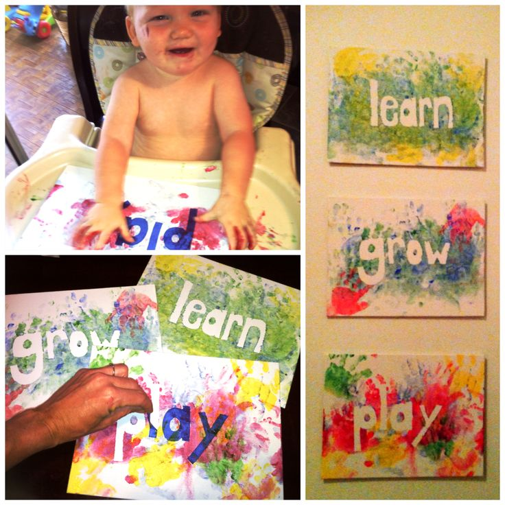 Toddler or baby art! Stickers or paint tape and finger paint