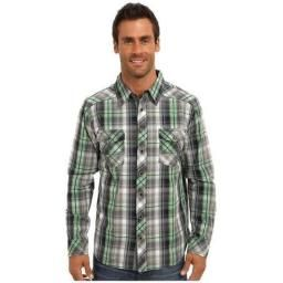 Bentley L/S Plaid, Organic Cotton, M : 100% organic cotton button up with a touch of the west! Flap chest pockets, and snap buttons.