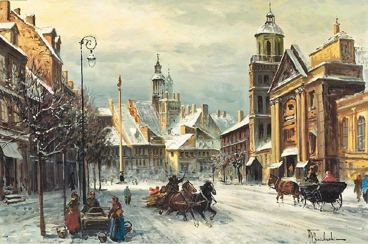 Wladyslaw Chmielinski  Winter in Warsaw