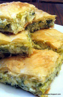 PRASSPITA - Leek and Cheese Pie - Kalofagas - Greek Food & Beyond by Peter Minakis: December 2008