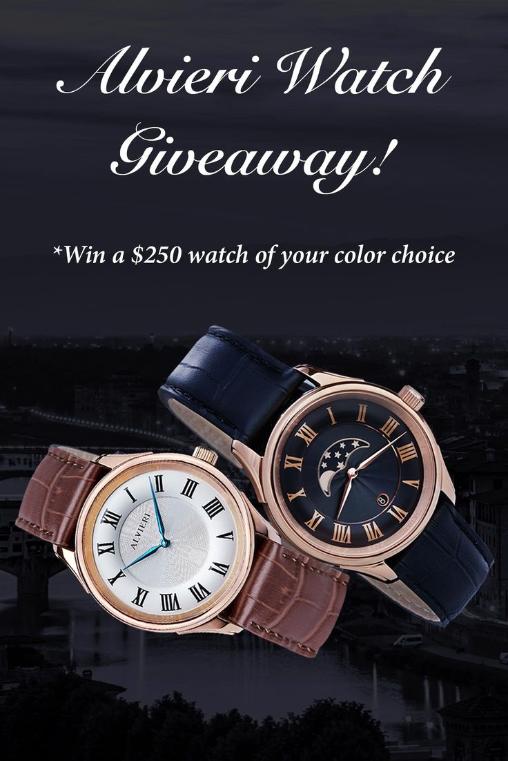 Want to WIN this Alvieri watch (ERV: $250)? I just entered and you can too. It is built with a sapphire crystal, a Swiss Parts movement, and an Italian leather strap. Giveaway ends May 9th.