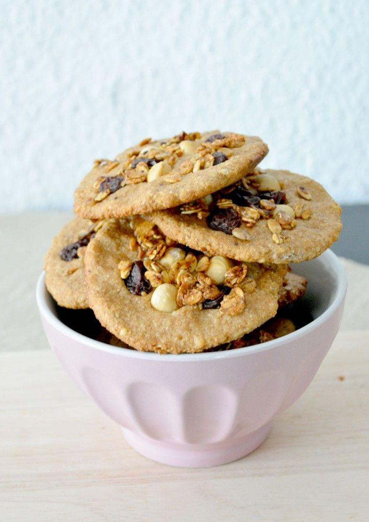 Postres Saludables | Cómo hacer galletas integrales con cereales y frutos secos | http://www.postressaludables.com