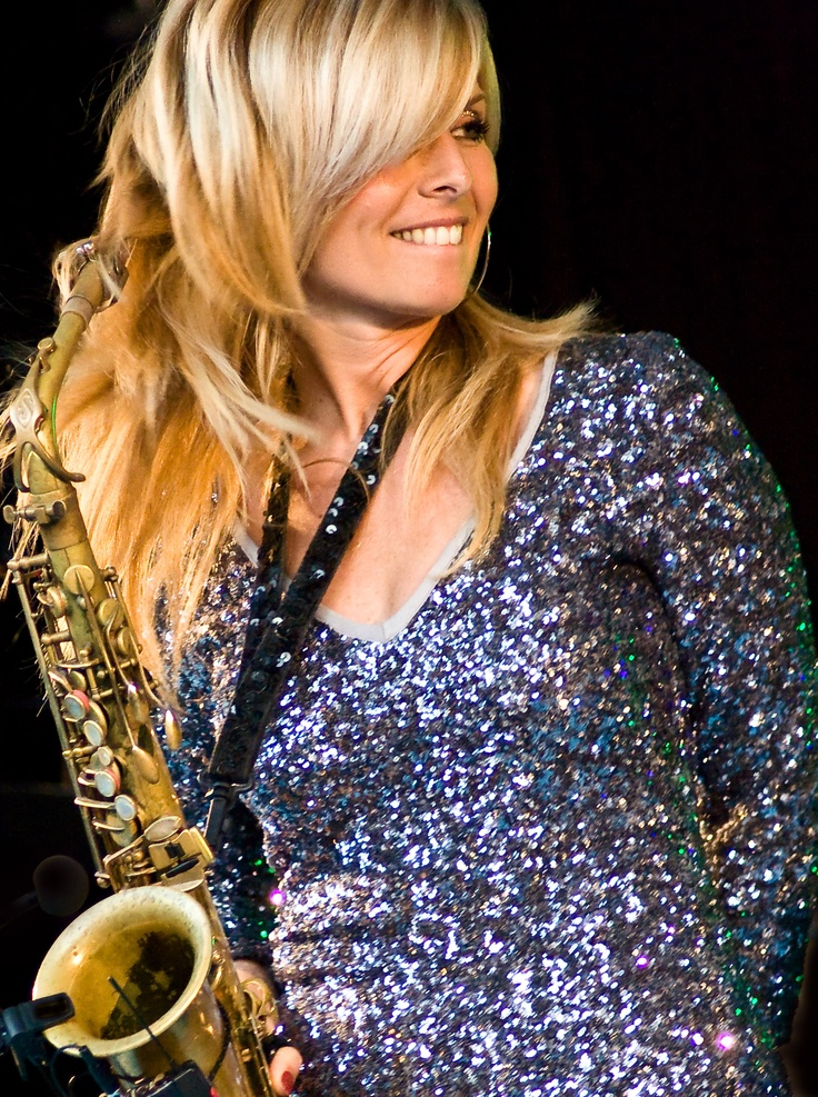 Candy Dulfer,NL. Performing since age7, bandleader of Funky Stuff since age14, international recording artist since age 19, touring the world since age 20 .Has recorded and / or performed with artists like Prince, Dave Stewart (Eurythmics), Van Morrison, Maceo Parker, Sheila E., Mavis Staples, Lionel Richie, Beyoncé, Pink Floyd, Chaka Khan, David Sanborn, Larry Graham, Marcus Miller, Aretha Franklin, Jimmy Cliff, George Duke, Blondie, Jools Holland, Jamie Cullum, Angie Stone...