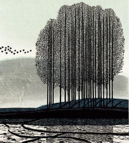 http://www.worldprintmakers.com - woodcut - Shi Yi
