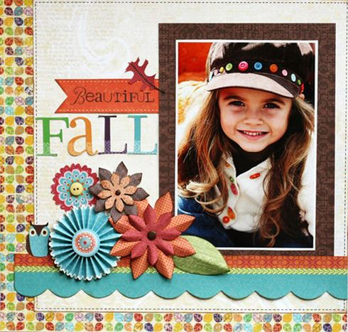 #papercraft #scrapbook #layout Little Yellow Bicycle - Hello, Fall!