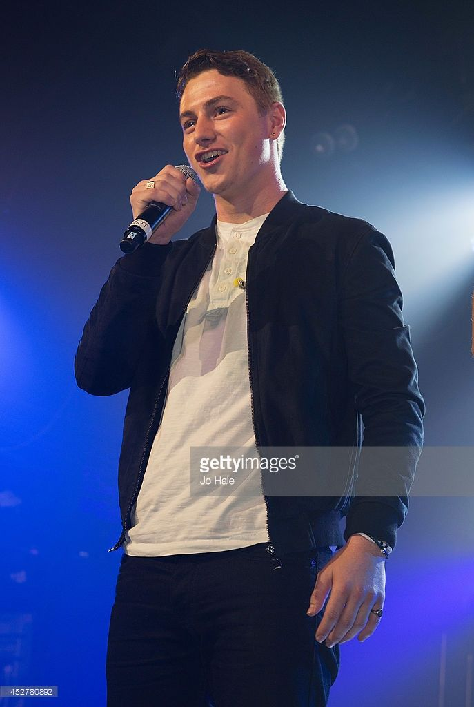 Matt Pagan of Collabro performs on stage at G-A-Y Heaven Club on July 26, 2014 in London, England.