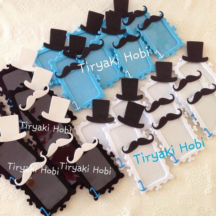 ♥ Tiryaki Hobi ♥: Keçe çerçeve magnet - şapka,bıyık --------- felt frames