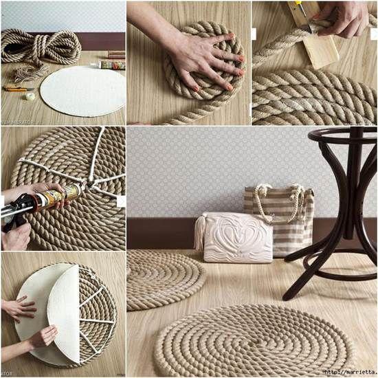 How to DIY Simple Rope Rug   iCreativeIdeas.com Like Us on Facebook == https://www.facebook.com/icreativeideas